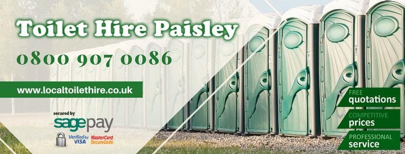 Portable Toilet Hire Paisley